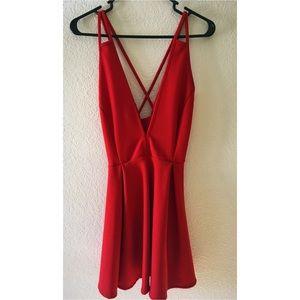 Red Windsor mini low cut mini dress. NWT.
